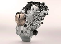 Motor quatro cilindros, mais leve e poderoso